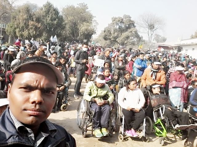 International Disability Day Observed: inclusive rally on the tactile path